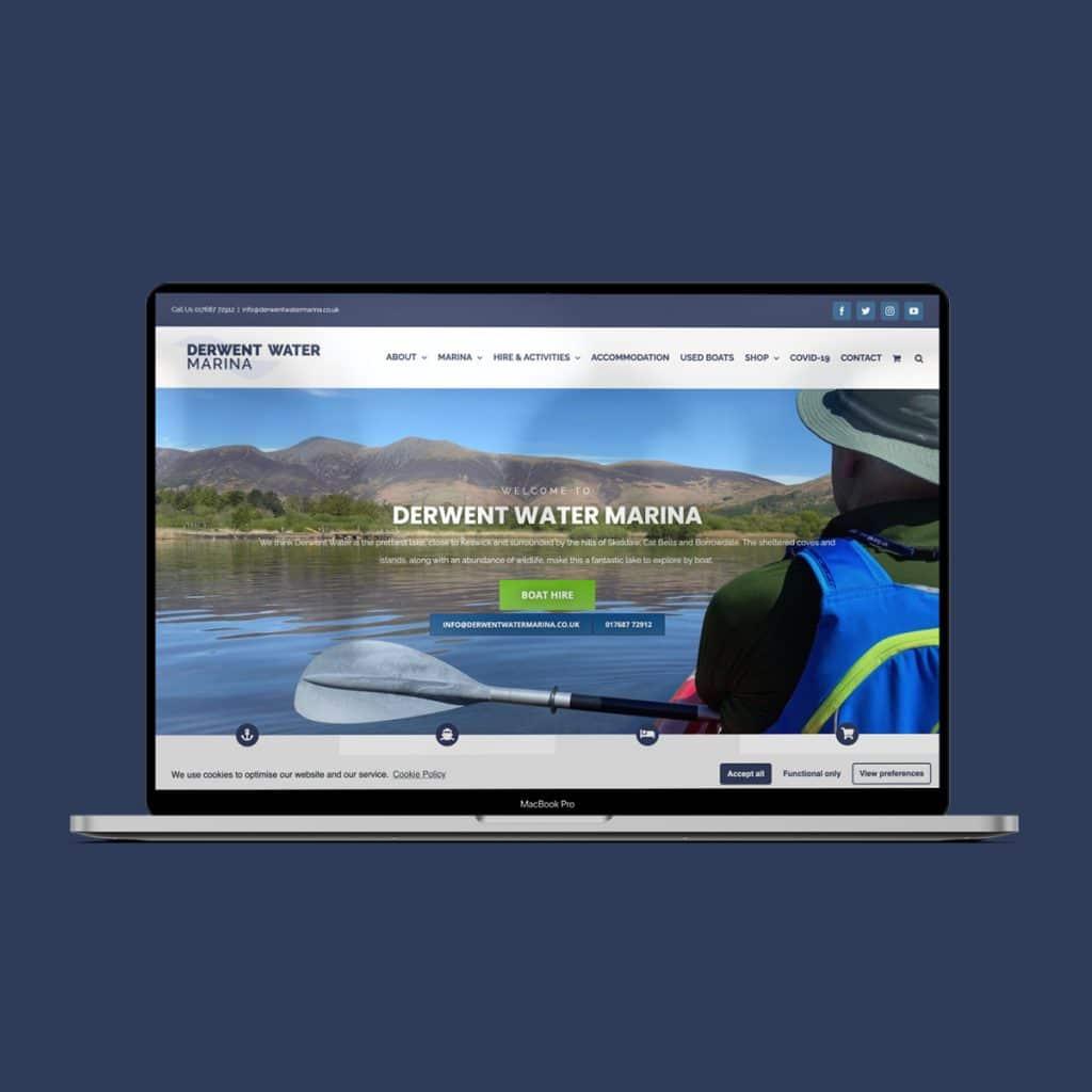 Derwent Water Marina website by KCS