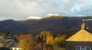 Snow on Skiddaw from KCS Office