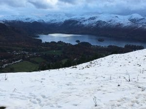 Snow overlooking Keswick