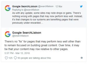 Google search liaison