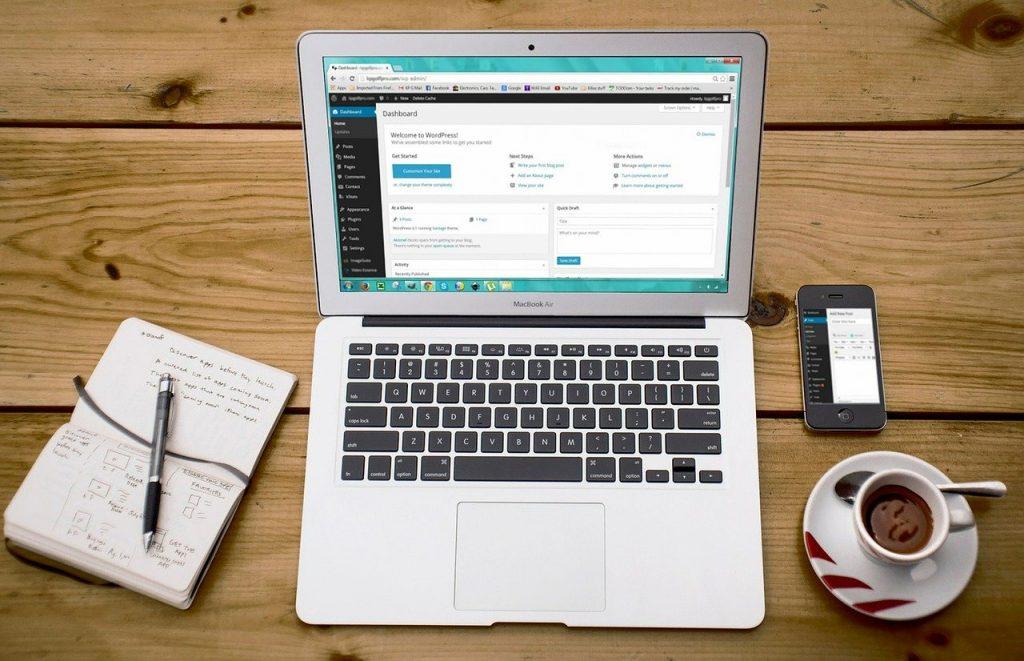 WordPress Website Design Dashboard
