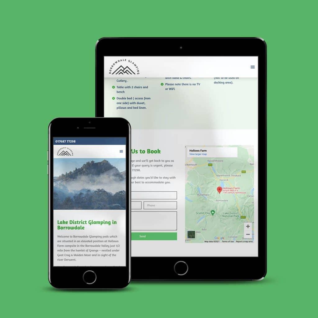 Borrowdale Glamping - website by KCS