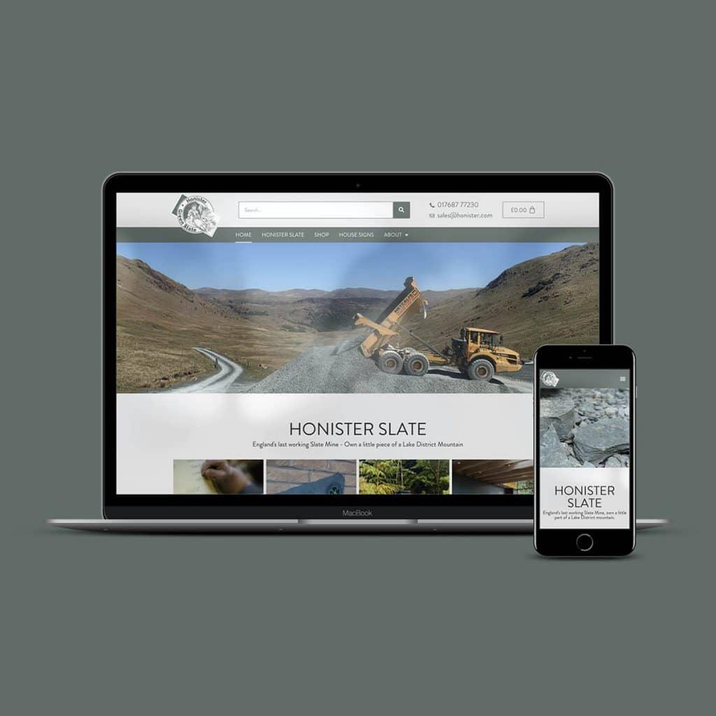 Honister Slate Mine - website by KCS
