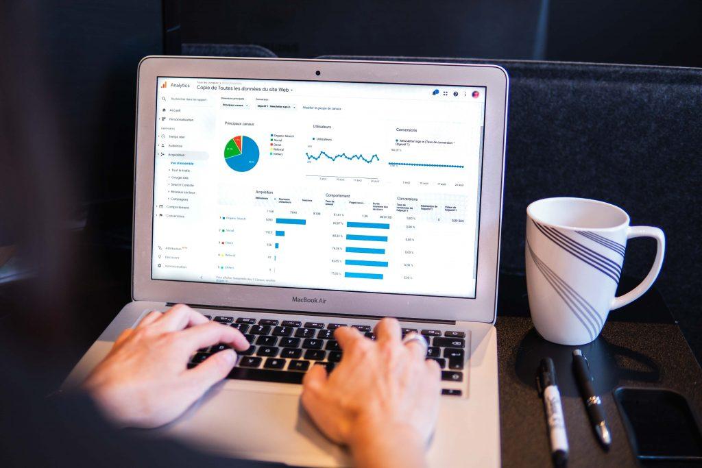 looking at Google analytics