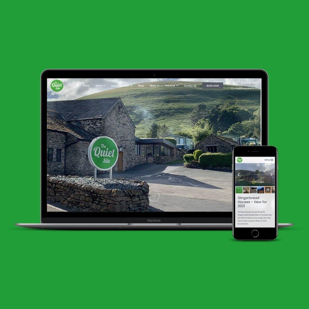 The Quiet Site - Campsite Web Design
